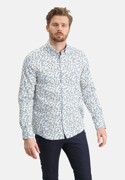State of Art - WITH A FLORAL PRINT - Hemd - white cobalt