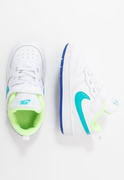 Nike Sportswear - COURT BOROUGH 2 - Baskets basses - white/oracle aqua/hyper blue/ghost green
