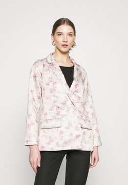 Missguided - FLORAL JACKET - Blazer - cream