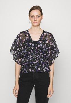 The Kooples - TOP - Bluse - black/purple