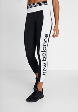 New Balance - RELENTLESS GRAPHIC HIGH RISE 7/8 - Tights - black