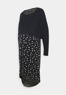 Mamalicious Curve - MLARIANNA DRESS  - Jerseykleid - salute / snow white