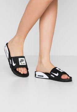 Nike Sportswear - NIKE AIR MAX 90 DAMEN-SLIDES - Sandały kąpielowe - black/white