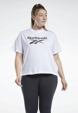 Reebok - IDENTITY GRANDE TAILLE - T-Shirt print - white