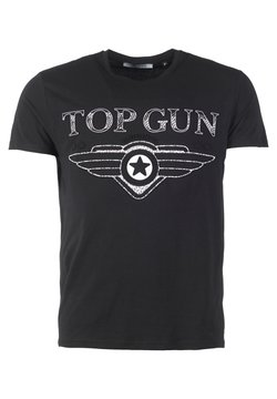 TOP GUN - SCHLICHT BLING - T-shirt print - black