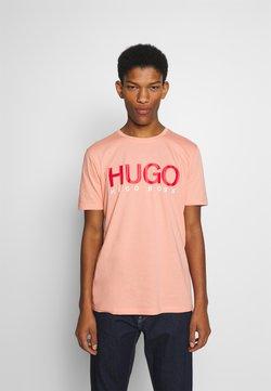 HUGO - DOLIVE - Camiseta estampada - light/pastel orange