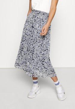 Vila - VIMOLTAN MIDI SKIRT - A-line skirt - navy blazer/white