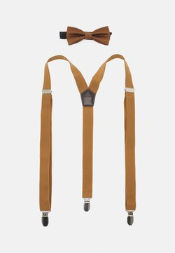 Only & Sons - ONSBOWTIE SUSPENDER SET - Fliege - brown sugar