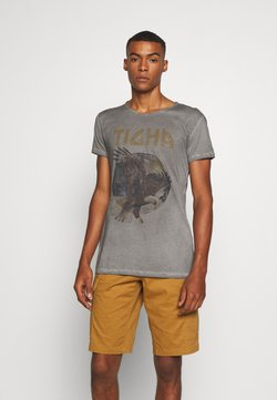 Tigha - EAGLE WREN - T-shirt imprimé - vintage grey