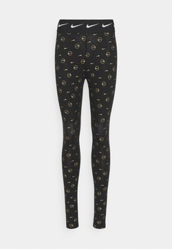 Nike Sportswear - PRINT PACK - Legging - black/metallic gold