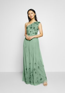 Maya Deluxe - ONE SHOULDER EMBELLISHED MAXI DRESS - Vestido de fiesta - green