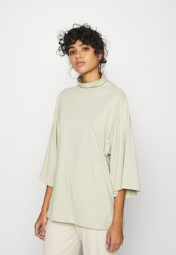Monki - HILLIE TEE - T-shirt basic - green dusty solid