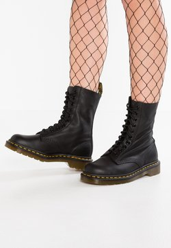 Dr. Martens - 1490 10 EYE VIRGINIA - Schnürstiefelette - black