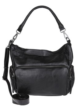FREDsBRUDER - HOBO BAG HONEYCOMB - Handtasche - black