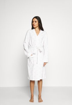 Marks & Spencer London - STRIP GOWN - Bademantel - white
