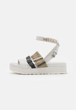MJUS - MAY - Platform sandals - panna/nero/uniform