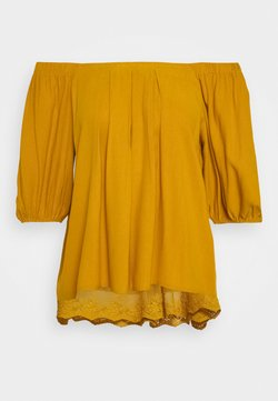 Cream - HAZELCR BLOUSE - Bluse - mustard yellow