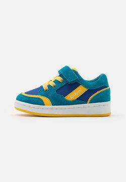 Kickers - BISCKUIT - Sneaker low - bleu/jaune