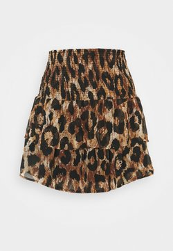 Pieces - PCLEON SKIRT - Mini skirts  - black