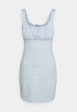 Hollister Co. - BARE DRESS - Trikoomekko - light blue floral