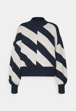 Vero Moda - VMLABINEW HIGHNECK - Strickpullover - navy blazer/birch