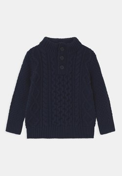 GAP - TODDLER BOY CABLE - Jersey de punto - tapestry navy