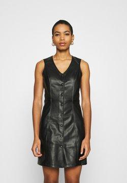 Dorothy Perkins - BUTTON DOWN PINNY DRESS - Robe d'été - black