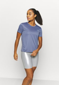 Nike Performance - MILER - Camiseta estampada - world indigo/silver