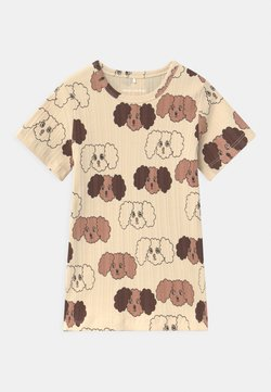 Mini Rodini - FLUFFY DOG UNISEX - T-shirt print - beige