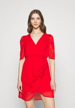 Vero Moda - VMJEAN WRAP DRESS  - Cocktail dress / Party dress - goji berry