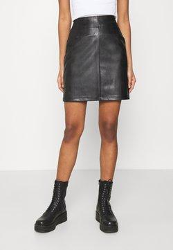 Pieces - PCDEVORA SKIRT - Mini skirt - black