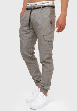 INDICODE JEANS - BOOTH - Pantaloni cargo - dark olive