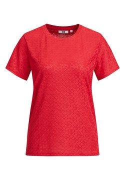 WE Fashion - MET KETTINGDESSIN - T-Shirt print - coral pink