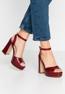 Anna Field - LEATHER HEELED SANDALS - High heeled sandals - bordeaux