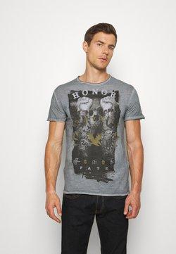 Key Largo - HONOR ROUND - T-shirt print - steel blue