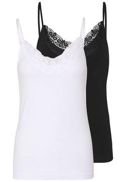 Vero Moda - VMINGE SINGLET 2 PACK  - Top - black/bright white