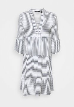 Vero Moda Petite - VMHELI DRESS PETIT - Freizeitkleid - snow white/navy blazer