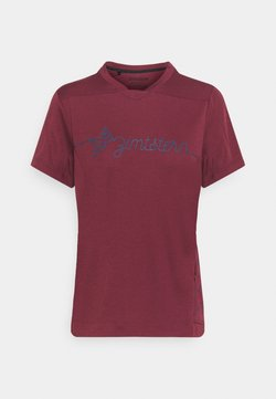 Zimtstern - ECOFLOWZ WOMENS - T-Shirt print - windsor wine/french navy