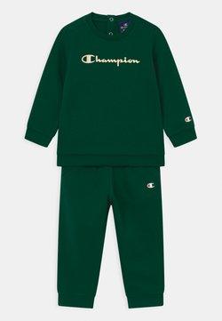 Champion - BASIC LOGO TODDLER CREWNECK SET UNISEX - Trainingspak - dark green