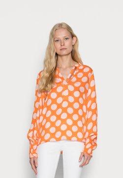 Emily van den Bergh - BLOUSE - Bluse - orange rose dots