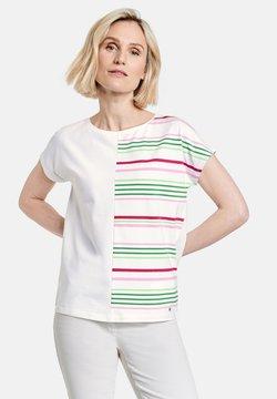Gerry Weber - T-Shirt print - ecru/weiss/grün patch