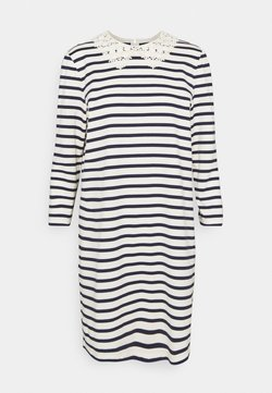 kate spade new york - COLLAR STRIPED TEE DRESS - Vestito estivo - cream