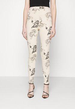 Missguided - DRAGON PRINT SPLIT SINNER  - Jeans Skinny Fit - beige