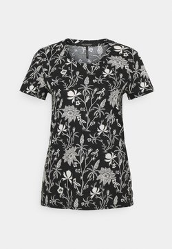 Scotch & Soda - SHORT SLEEVE TEE - T-Shirt print - black/white
