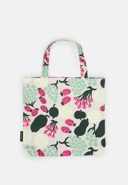Marimekko - NOTKO PIENI TORI - Shoppingväska - off white/green/pink