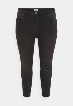 Cotton On Curve - ADRIANNA HIGH - Jeans Skinny Fit - black
