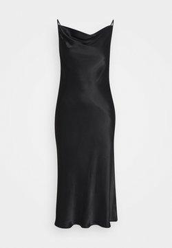Second Female - EDDY COWLNECK SLIPDRESS - Cocktailklänning - black