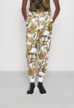 Versace Jeans Couture - PANTS - Jogginghose - white/gold