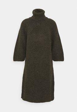 YAS - YASBRAVO ROLL NECK DRESS - Jumper dress - black olive