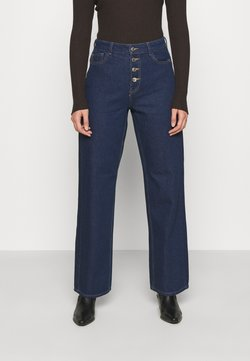 ONLY - ONLMOLLY BLIFUTTON WIDE LEG - Jeans a zampa - dark blue denim